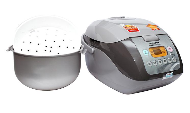 Nồi cơm điện Sharp KS-COM19V-G nấu cơm ngon